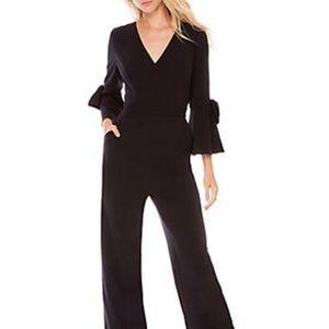 Donna Morgan v neck black jumpsuit bell sleeves